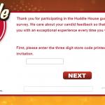 www.huddlecares.com - Huddle House Guest Satisfaction Survey