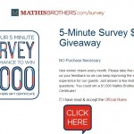 www.mathisbrothers.com/survey, Win $1,000 at Mathis Brothers Furniture Customer Survey