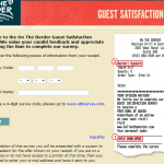 www.tellontheborder.com - On The Border Guest Satisfaction Survey