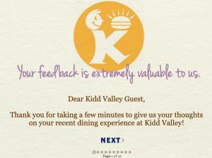 www.tellkiddvalley.com - Kidd Valley Customer Survey