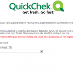 www.quickchecklistens.com - 0 Quick Check Customer Satisfaction Survey