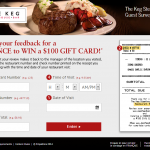 kegcommentaires.com, The Keg Steakhouse + Bar Guest Survey