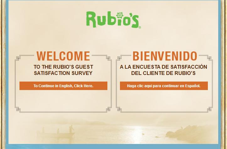 www.tellrubios.com - Rubio's Guest Satisfaction Survey