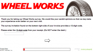 www.wheelworkssurvey.com - Wheel Works Customer Satisfaction Survey