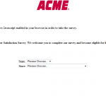 www.acmemarketssurvey.com - ACME Markets Customer Satisfaction Survey