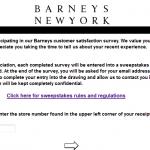 www.mybarneysexperience.com - Barneys New York Customer Satisfaction Survey