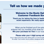 www.ourbootseyecare.com - Boots Opticians Customer Feedback Survey