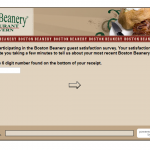 www.bostonbeanerysurvey.com - Boston Beanery Guest Satisfaction Survey