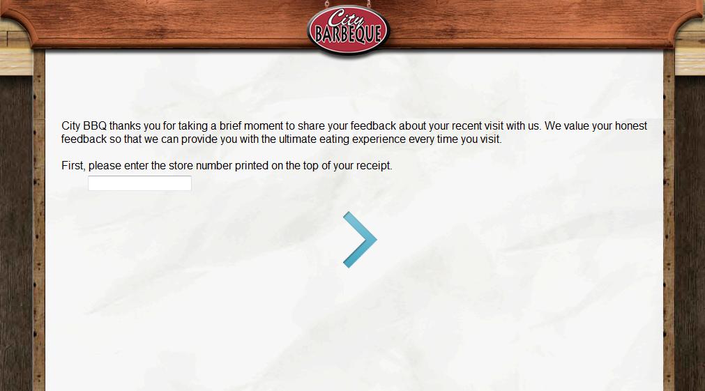 www.tellcitybbq.com - City Barbeque Feedback Survey