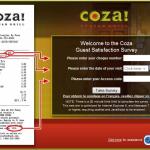 www.cozafeedback.com - Coza Guest Feedback Survey