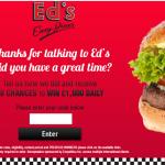 www.edseasydinerfeedback.com - Ed's Easy Diner Customer Satisfaction survey