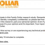 www.familydollarsurvey.com - Family Dollar Shopping Experience Survey