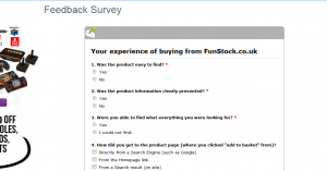 www.funstock.co.uk/user-survey - FunStock Feedback Survey