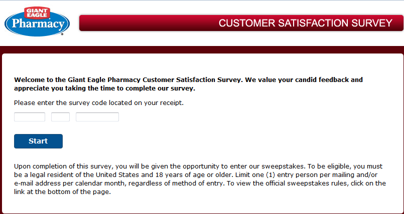 www.gepharmacylistens.com - Giant Eagle Pharmacy Customer Satisfaction Survey
