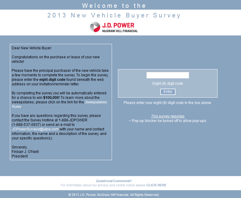Www Jdpoweronline Com Usebs2013 J D Power 2013 New Vehicle Buyer