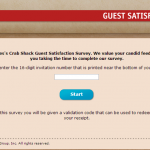 www.myjoesexperience.com - Joe's Crab Shack Guest Satisfaction Survey