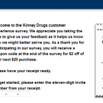 www.kinneykares.com - Kinney Drugs Customer Experience Survey