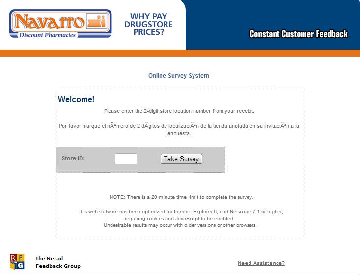 www.navarrofeedback.com - Navarro Discount Pharmacies Constant Customer Feedback