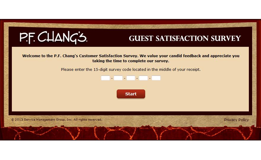www.pfchangsfeedback.com - P.F. Chang's Guest Satisfaction Survey