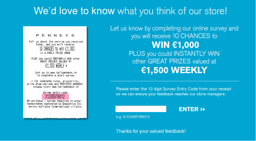 Tell penneys survey