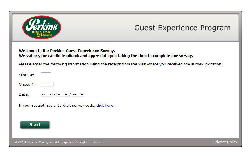 www.perkinsfeedback.com - Perkins Guest Experience Survey