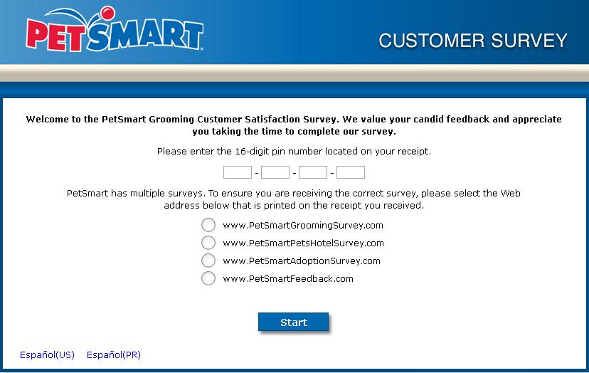 www.petsmartgroomingsurvey.com - PetSmart Grooming Customer Satisfaction Survey
