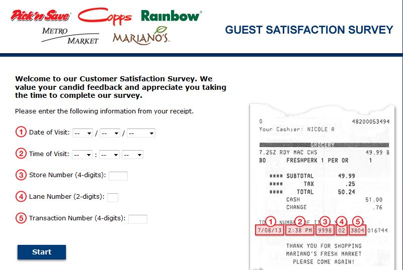 www.picknsaveexperience.com - Pick    'n Save Customer Experience Survey