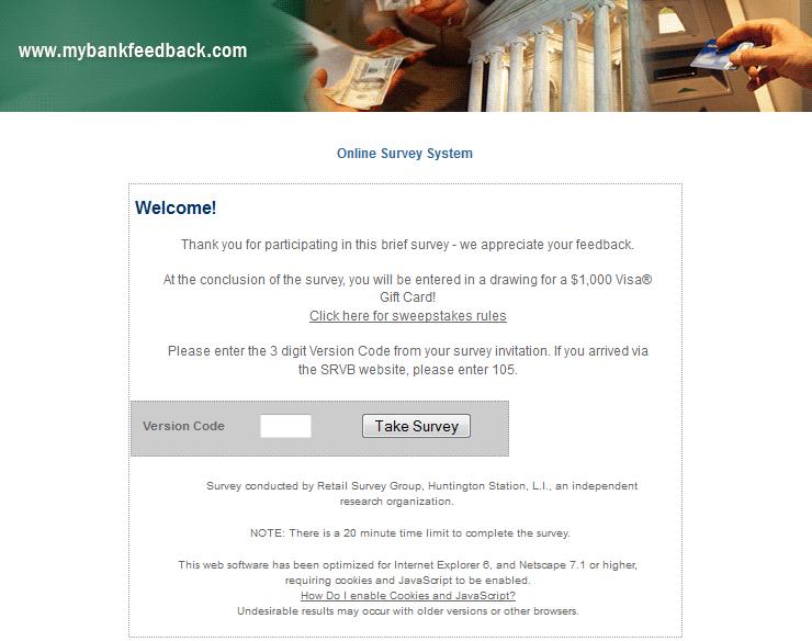 www.mybankfeedback.com - Saddle River Valley Bank Guest Feedback Survey