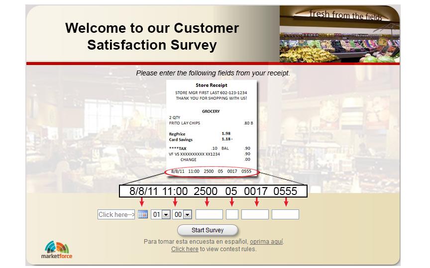 www.safewaysurvey.net - Safeway Customer Satisfaction Survey
