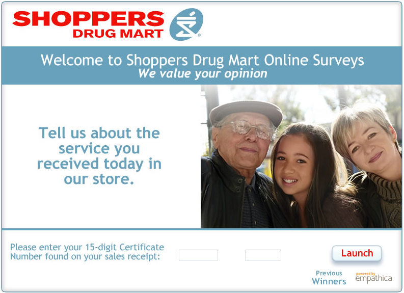 www.surveysdm.ca - Shoppers Drug Mart Canada Customer Survey