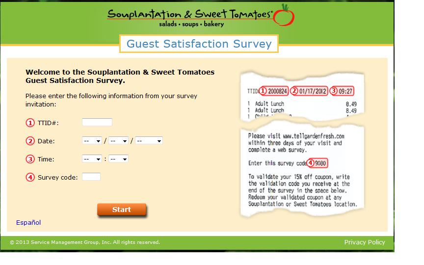 www.tellgardenfresh.com - Souplantation & Sweet Tomatoes Guest Satisfaction Survey