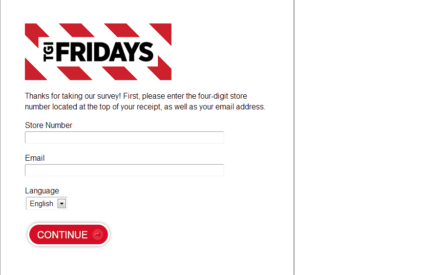 TGI Fridays is famous for providing one heck of a time and delicious foods and beverages. Enter TGI Fridays Survey at qozoq-sex.ml & give your feedback for an amazing free Fridays Coupon Code to redeem for a special offer.