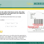 www.talktomorrisons.co.uk - £500 Vouchers Talk to Morrisons Survey