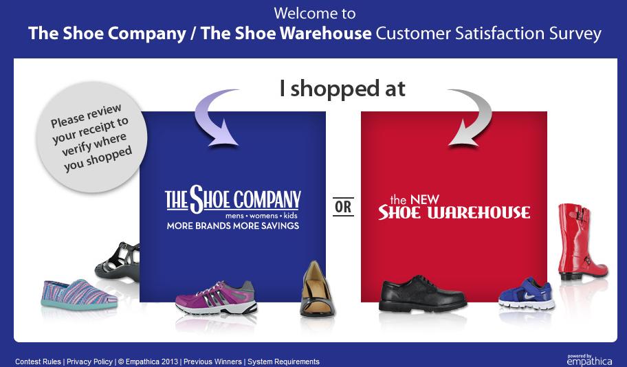 www.theshoeq.com - The Shoe Company Customer Satisfaction Survey