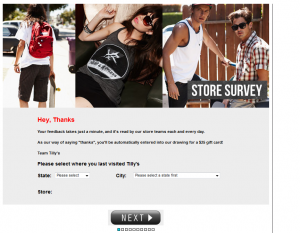 www.telltillys.com - Tilly's Customer Survey