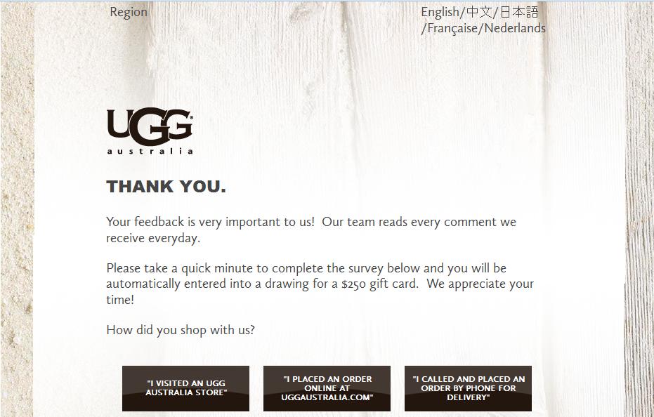 ugglistens.com - UGG Listens Guest Survey