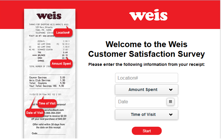 www.tellweis.com - Weis Markets Customer Satisfaction Survey