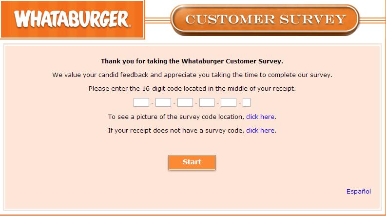 www.whataburgerexperience.com - Whataburger Customer Experience Survey