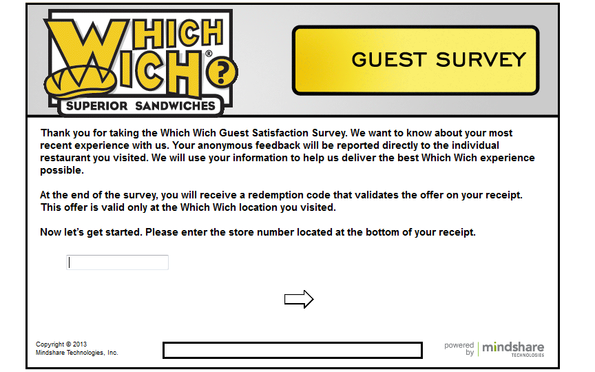 www.wichsurvey.com - Which Wich Guest Satisfaction Survey