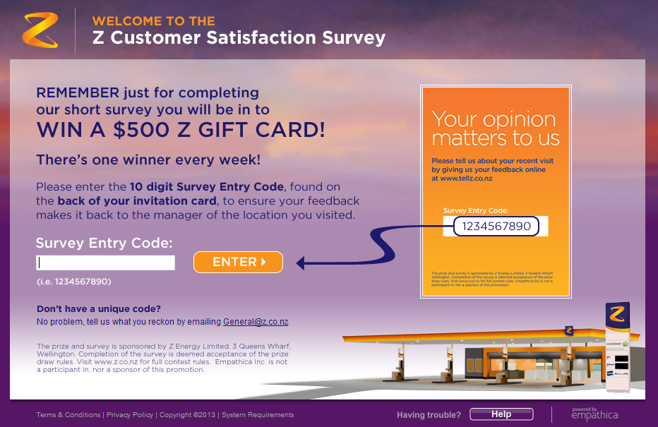 www.tellz.co.nz - Z Energy Customer Satisfaction Survey