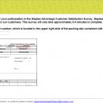 www.surveyforstaples.com - Staples Advantage Customer Satisfaction Survey