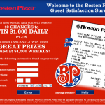 www.BostonPizzaSurvey.com, $1,000 Boston Pizza Customer Survey