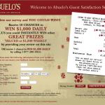 www.abuelossurvey.empathica.com, $1,000 Abuelo's Guest Survey