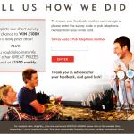www.brainsfeedback.com - £1,000 Brains Customer Survey