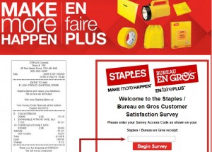 www.bureauengrosopinion.ca - Staples/Bureau en Gros Customer Satisfaction Survey