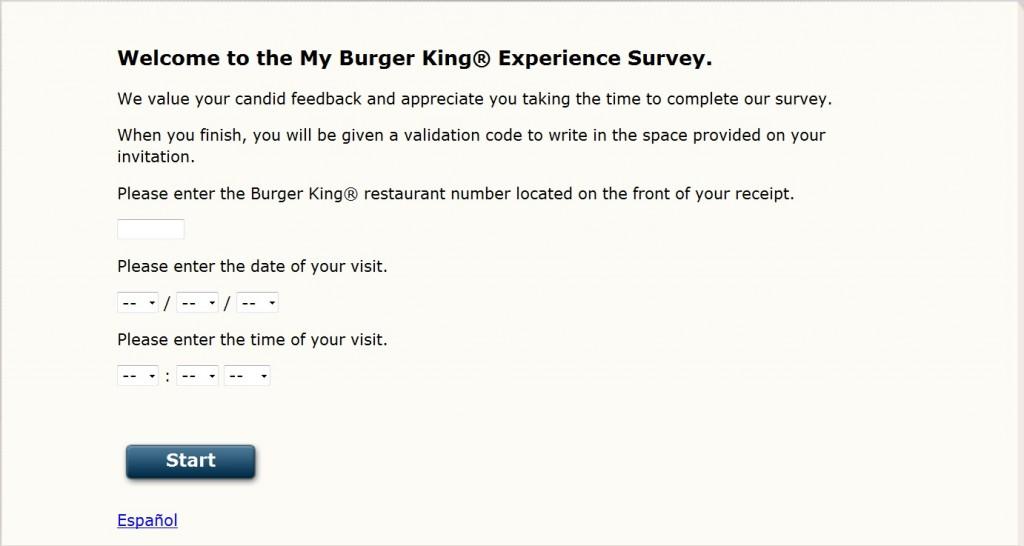 www.evaluabk.com - My BURGER KING Experience Satisfaction Evaluation Survey