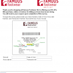 www.famous.com/survey - Famous Footwear Satisfaction Survey