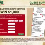 www.go-chilis.com, $1,000 Chili's Customer Survey