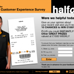 www.halfords-feedback.com - £1,000 Halfords Customer Survey