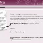 www.hsamuel.co.uk/feedback - £500 H.Samuel Feedback Survey